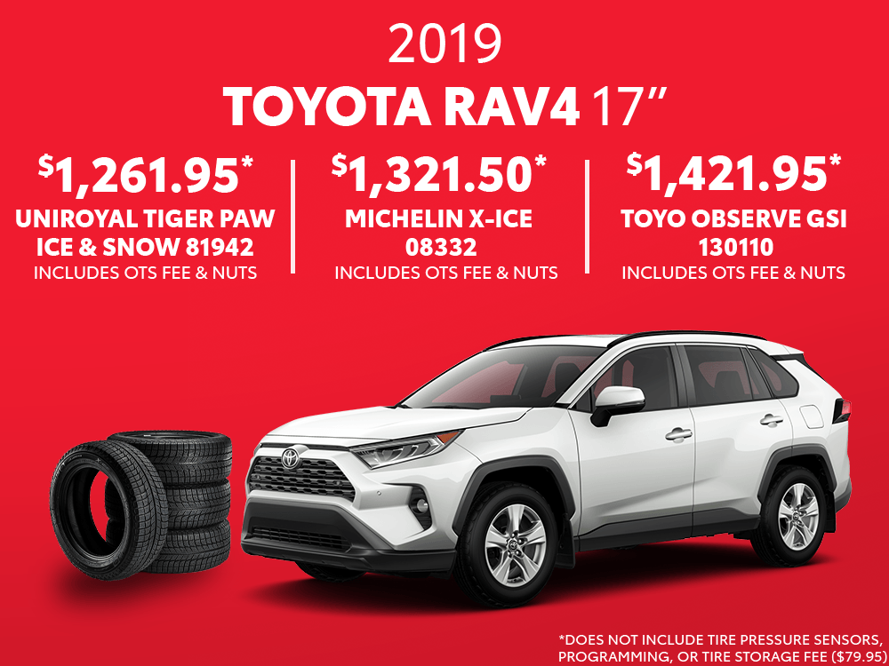 2019 RAV4 17″ Winter Tire Special