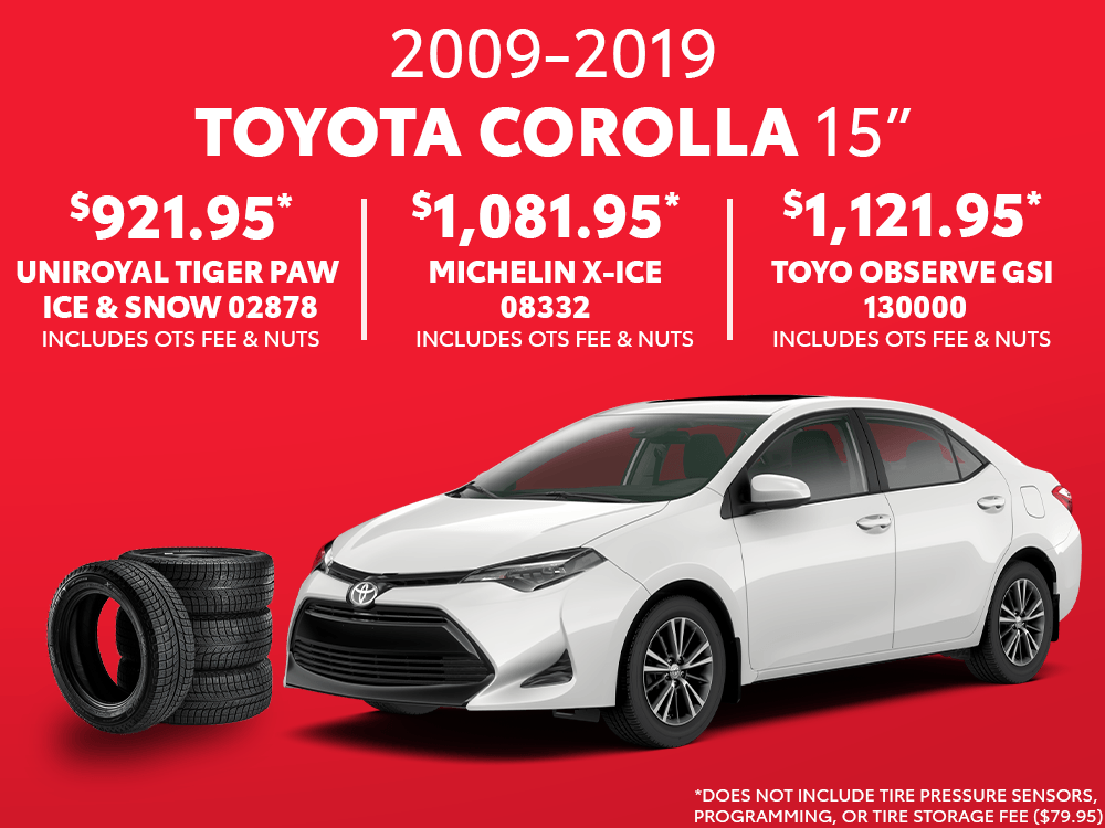 Corolla 15″ Winter Tire Special