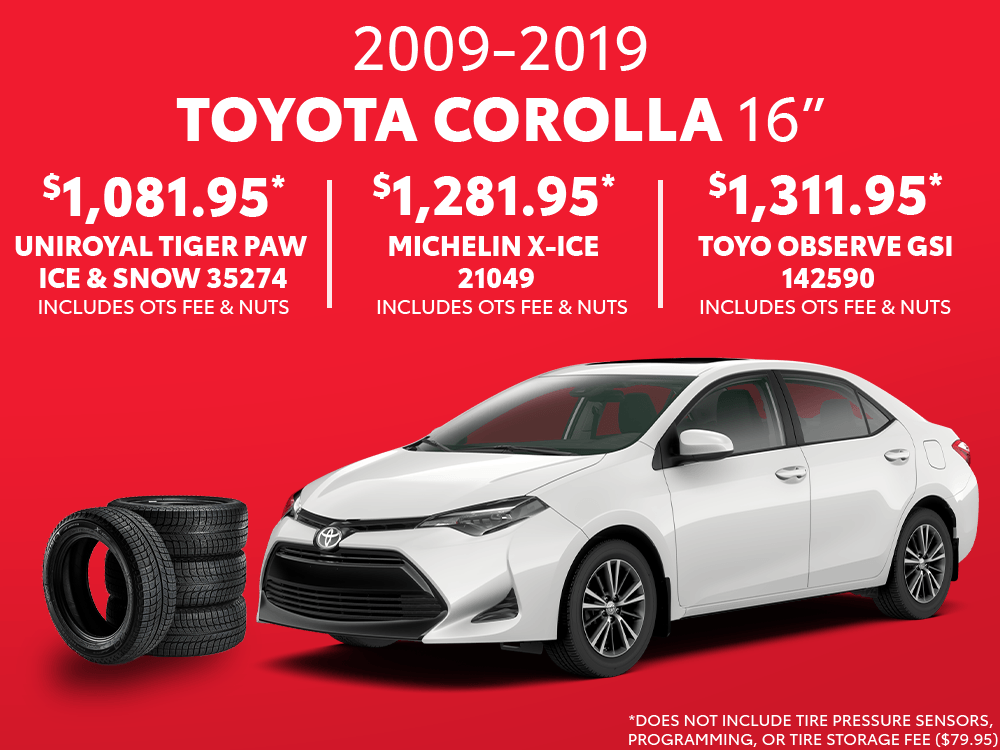 Corolla 16″ Winter Tire Special