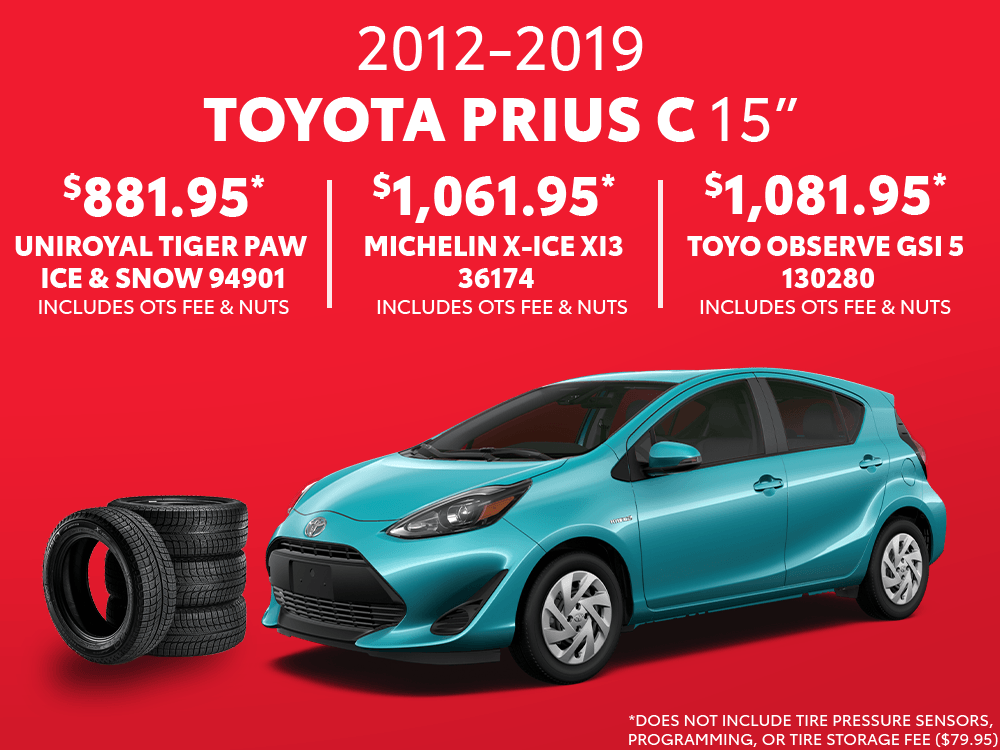 Prius c 15″ Winter Tire Special