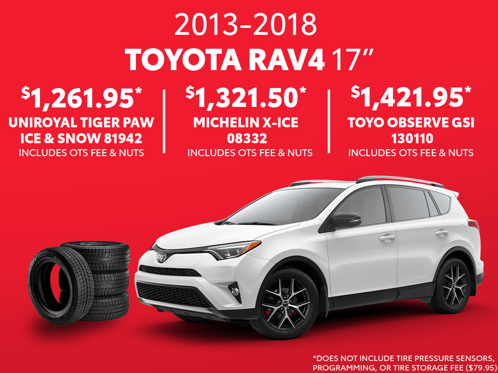 RAV4 17″ Winter Tire Special