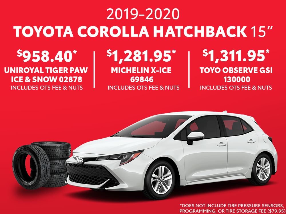 Corolla Hatchback 15″ Winter Tire Special