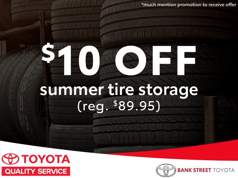 $10 Off Summer Tire Storage