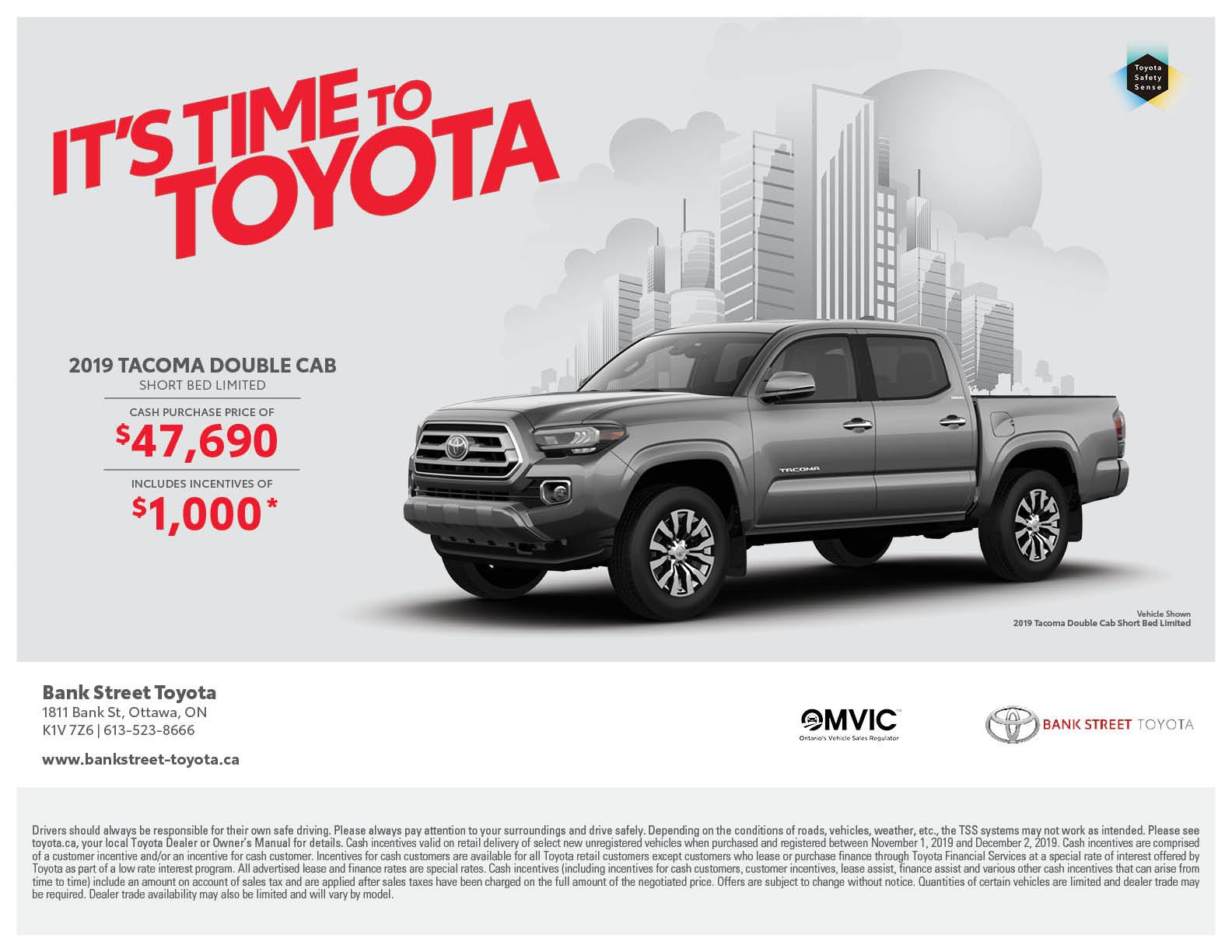 2019 Toyota Tacoma 4×4 Double Cab Short Bed Limited