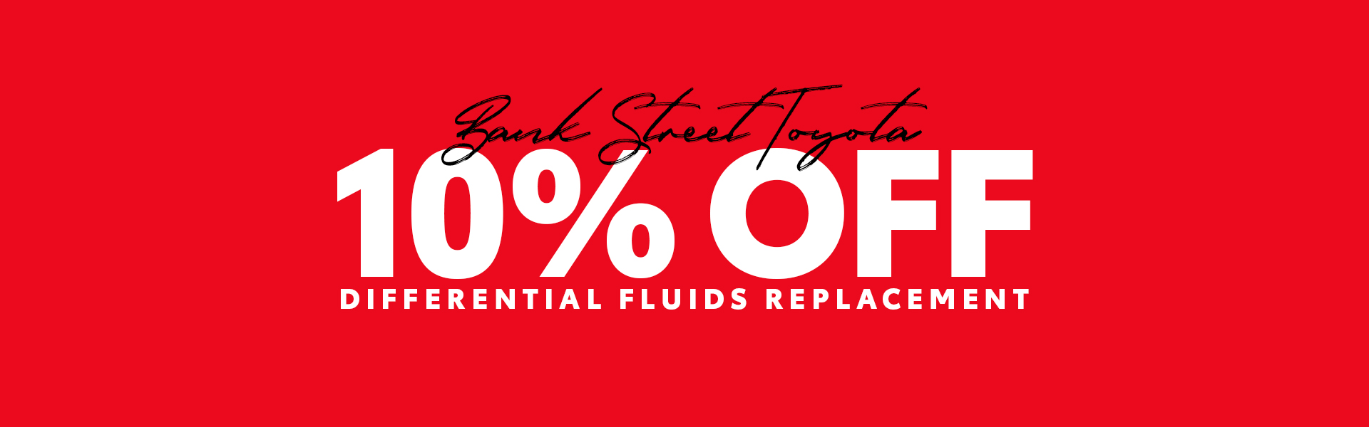 10% Off Differential Fluids Replacement
